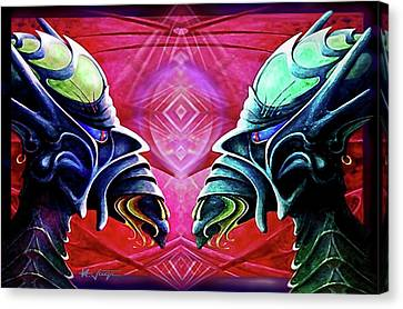 Lucifer's  Double  Dealings Canvas Print by Hartmut Jager
