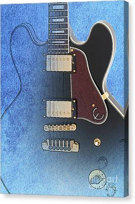 Lucille B B King Guitar Canvas Print by Pablo Franchi