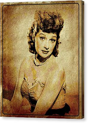 Lucille Ball Vintage Hollywood Actress Canvas Print by Esoterica Art Agency