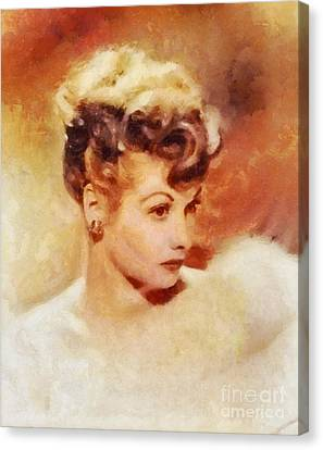 Lucille Ball, Vintage Hollywood Actress Canvas Print by Sarah Kirk