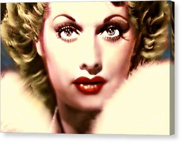 Lucille Golden Years Canvas Print by Wbk