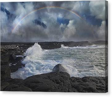 Luck Of The Irish Inis Mor Canvas Print by Betsy Knapp