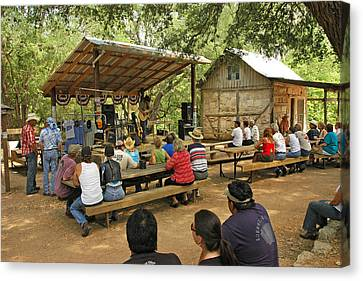 Luckenbach Music Canvas Print by Robert Anschutz