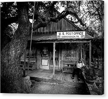 Canvas Print featuring the photograph Luckenbach Texas by David Morefield