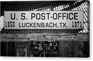 Luckenbach Tx Post Office Sign Canvas Print