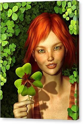 Lucky Charm Fairy Canvas Print