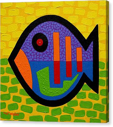 Lucky Fish II  Canvas Print by John  Nolan