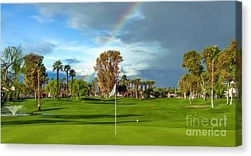 Lucky Golf Day Canvas Print by David Zanzinger