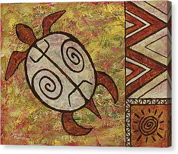 Canvas Print featuring the painting Lucky Honu by Darice Machel McGuire