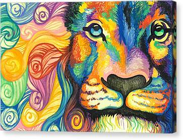 Lucky Lion Spirit Canvas Print by Sarah Jane