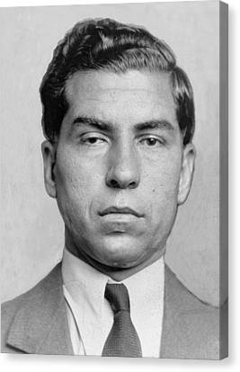 Lucky Luciano 1896-1962 Was Imprisoned Canvas Print by Everett