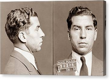 Lucky Luciano Mugshot Canvas Print