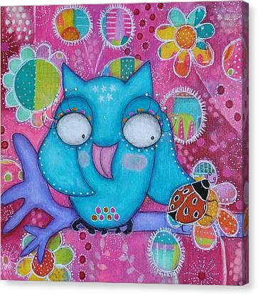 Canvas Print - Lucky Owl by Barbara Orenya