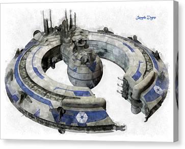 Lucrehulk Battleship - Da Canvas Print by Leonardo Digenio