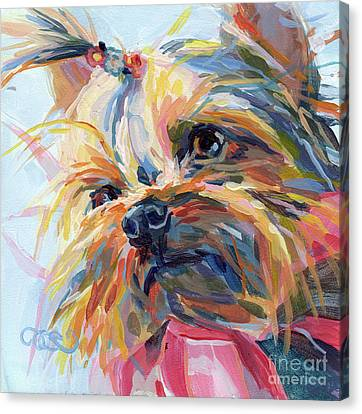 Canine Art Canvas Print - Lucy In The Sky by Kimberly Santini