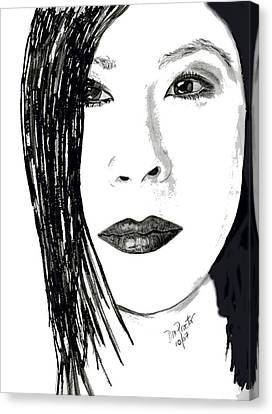 Lucy Liu Canvas Print