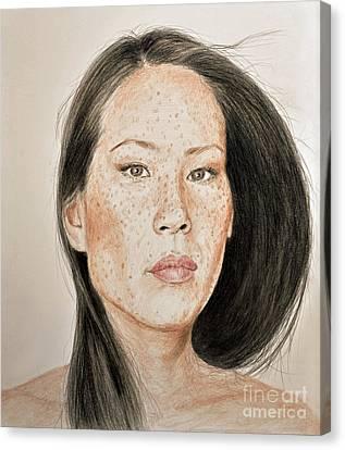 Lucy Liu Freckled Beauty II Canvas Print