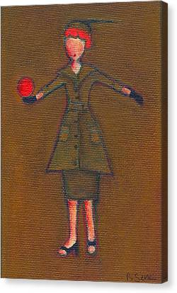Lucy's Burning Red Ball Canvas Print by Ricky Sencion