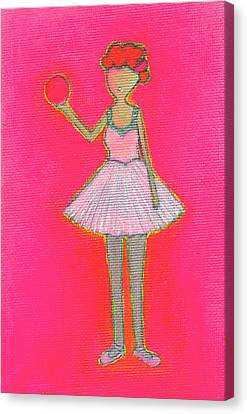 Lucy's Hot Pink Ball Canvas Print by Ricky Sencion