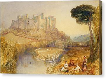 Ludlow Castle  Canvas Print by Joseph Mallord William Turner