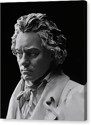 Canvas Print featuring the mixed media Ludwig Van Beethoven by Daniel Hagerman