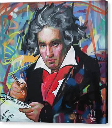 Ludwig Van Beethoven Canvas Print by Richard Day