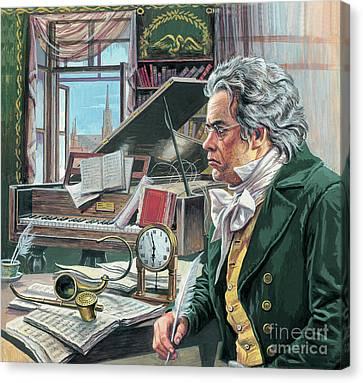 Ludwig Van Beethoven Canvas Print by Roger Payne