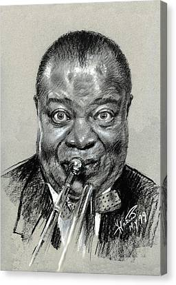 Louis  Armstrong Canvas Print by Ylli Haruni