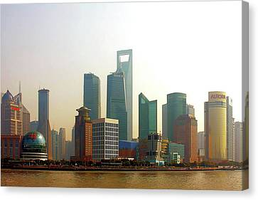 Lujiazui - Pudong Shanghai Canvas Print by Christine Till