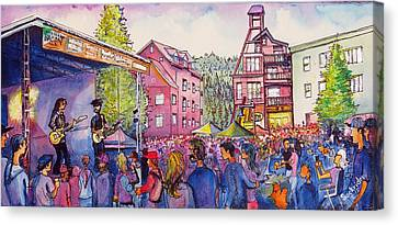 Canvas Print featuring the painting Lukas Nelson And Promise Of The Real by David Sockrider