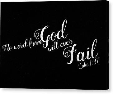 3.14 Canvas Print - Luke 1 37 Scripture Verses Bible Art by Reid Callaway