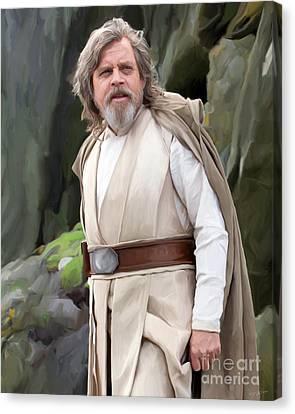 Shower Canvas Print - Luke Skywalker by Paul Tagliamonte