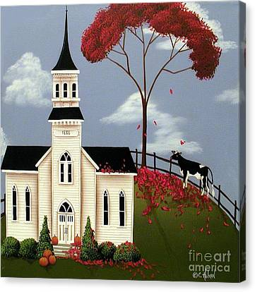 Lulabelle Goes To Church Canvas Print by Catherine Holman