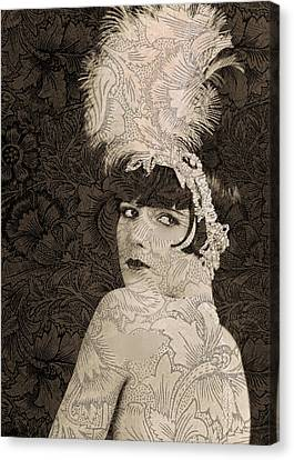 Lulu In Hollywood Canvas Print by Sarah Vernon