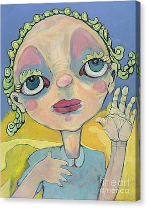 Canvas Print featuring the painting Lulu by Michelle Spiziri