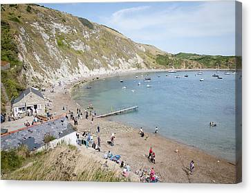Lulworth Cove Dorset Uk Canvas Print by Andy Smy