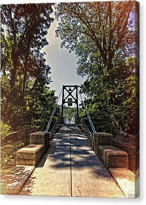 Lumberville Foot Bridge Canvas Print