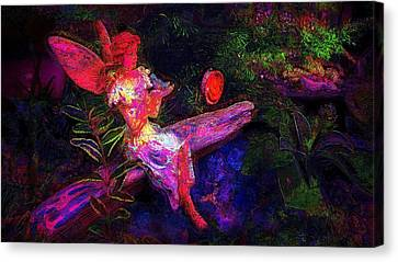 Canvas Print featuring the photograph Luminescent Night Fairy by Lori Seaman