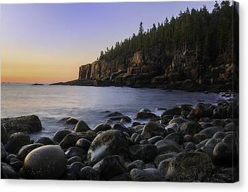 Luminous Light On Otter Cliffs Canvas Print