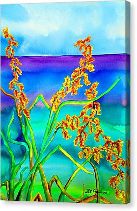 Canvas Print featuring the painting Luminous Oats by Lil Taylor