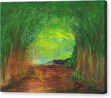 Luminous Path Canvas Print