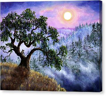 Luna In Mist And Fog Canvas Print
