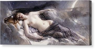 Luna Canvas Print by Leon Francois Comerre