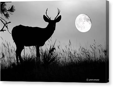 Giselaschneider Canvas Print - Luna Luminescence ... Montana Art Photo by GiselaSchneider MontanaArtist