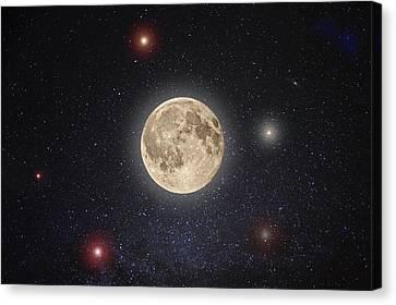 Full Moon Canvas Print - Luna Lux by Steve Gadomski