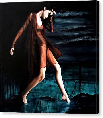 Luna Triste Canvas Print by Ryan Swallow