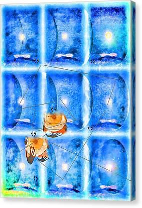 Lunar Balance Canvas Print by Kathy Bassett