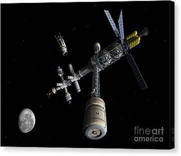 Lunar Cycler Centrifuge Canvas Print