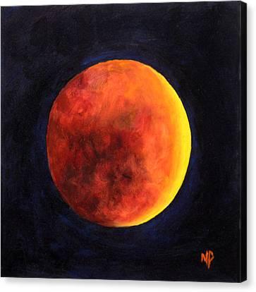 Lunar Eclipse Canvas Print by Marina Petro