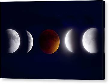 Beauty Mark Canvas Print - Lunar Eclipse Montage by Mark Andrew Thomas